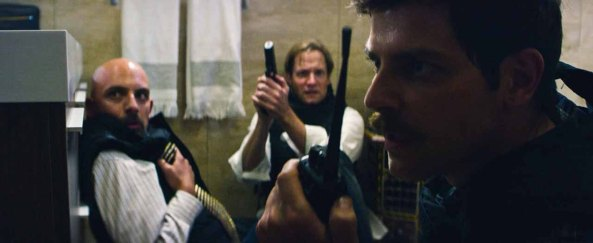 Left to right: Christopher Dingli plays Sean Smith, Matt Letscher plays Ambassador Stevens and David Giuntoli plays DS Scott Wickland in 13 Hours: The Secret Soldiers of Benghazi from Paramount Pictures and 3 Arts Entertainment / Bay Films in theatres January 15, 2016.