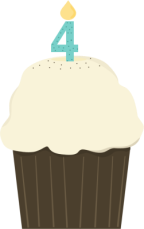fourth-birthday-cupcake